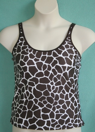 Luisa Post-Mastectomy/Breast Surgery Nylon/Lycra Spaghetti Strap Tank (w/ built-in molded cup)