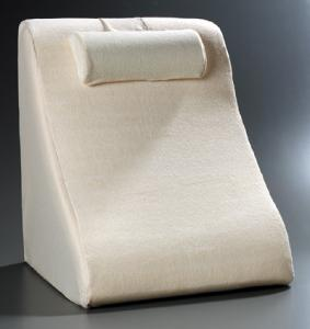 memory foam spine reliever bed wedge pillow w removable neck roll