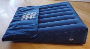 Bed Wedge Pillow Inflatable W Cover Travel Case Hand Pump
