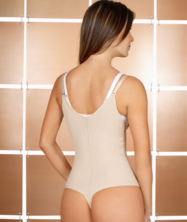 Braless Bodysuit With Thong Back Shapewear