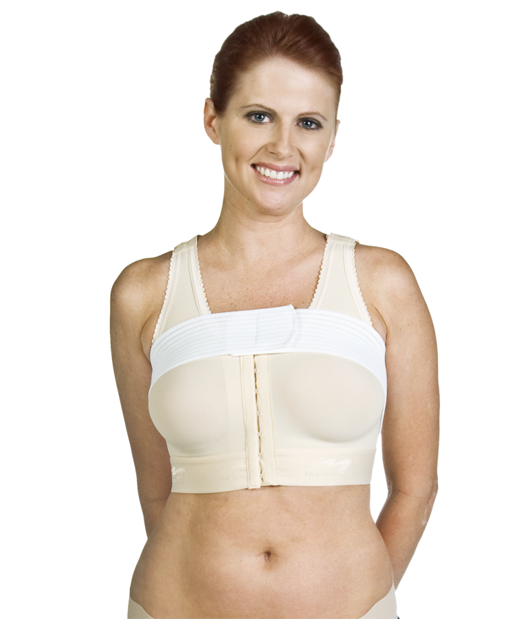 Marena Molded Cup Breast Surgery Bra w/Built-in Implant Stabilizer - OPENED