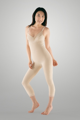 Full Body Cosmetic Surgery Compression Garment W/ Bra - Medium Length - Stage 2 (Marena)