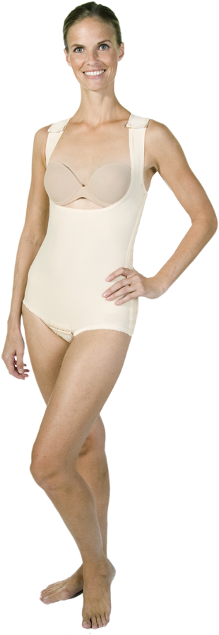 Marena Post-Surgery High Back Compression Girdle (Stage One) (Marena) - Opened