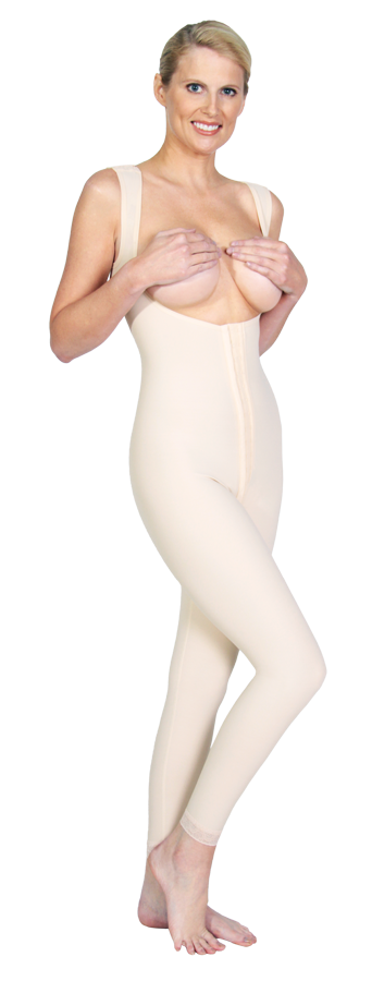 Marena High Back Compression Girdle (Ankle Length)- Stage One