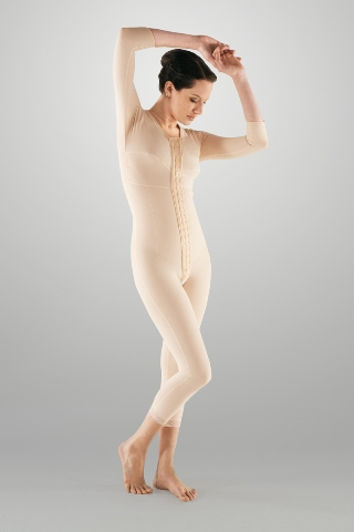 Full Body Compression Garment - Medium Length (w/ Bra & Armsleeve) (Marena) - REFURBISHED