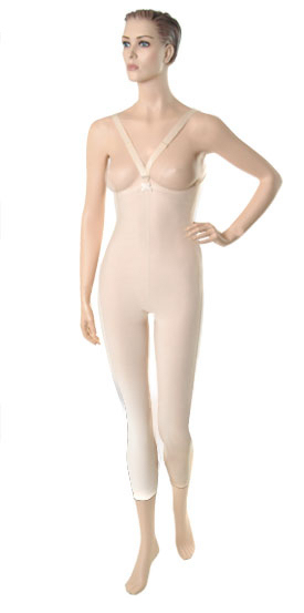 High Back Mid Body Cosmetic Surgery Compression Garment - Medium Length - Stage 1 (Marena)