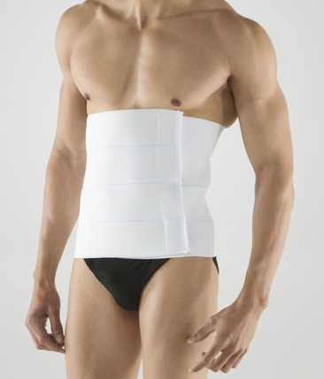 "12"" Four-Panel Abdominal Cosmetic Surgery Binder (Unisex) - 1 Piece (Marena)"