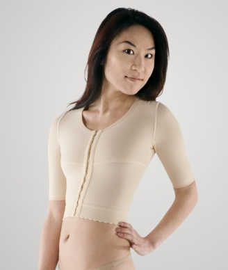 Arm, Back & Shoulder Short Sleeve Plastic Surgery Compression Garment (Marena)