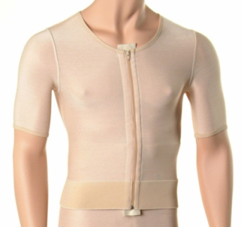 Male Abdominal, Chest, Back & Arm Cosmetic Surgery Compression Vest (W/Zippers) -CLEARANCE