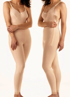 Full Body Plastic Surgery Compression Garment W/ Bra  - Below Knee - Stage 1 (Marena)