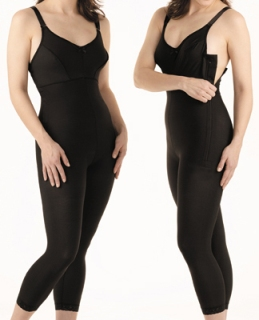 Full Body Plastic Surgery Compression Garment w/ Bra - Medium Length - Stage 1 (Marena)