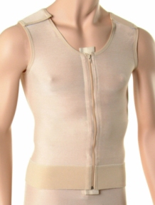 Male Abdominal, Chest & Back Plastic Surgery Compression Vest - Stage One (Marena)