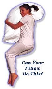Snoozer Upper Body Pillow W/Cover
