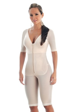 Seduction Extra-Firm Body Shaper W/Bra & Arm Control - Above Knee - FINAL SALE