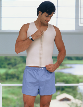 Squeem Cotton & Rubber Vest For Men - Firm Compression