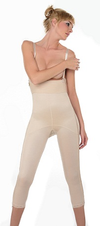 Annette Ankle Length Compression Girdle (w/ Two Lateral Zippers)