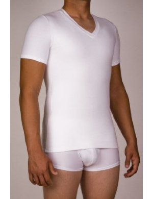 Microfiber Light Compression V-Neck Short Sleeves T-Shirt