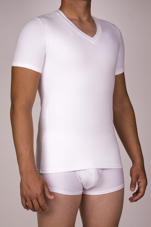 Men's Compression V-neck T-Shirt (Power Compression)