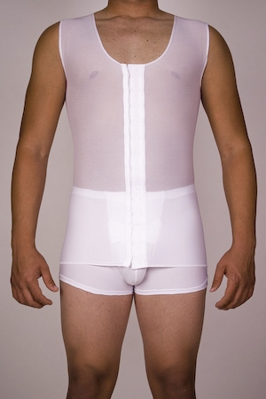 Men's Extra Compression Post-Surgical Gynecomastia Vest (Single-Layer/X-Tra Large)