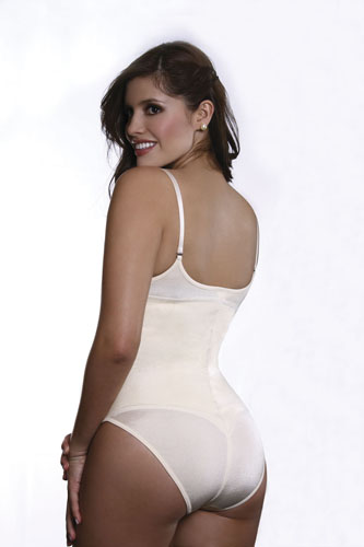 b8244f971b979 Vedette Evonne Firm Control Beige Braless Body Suit w Adjustable ...