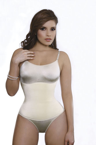 Vedette Lea Firm Control Body Suit w/Adjustable Straps & Panty