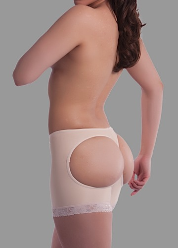 Low Waist Buttocks Enhancing Compression Garment w/Double Panel