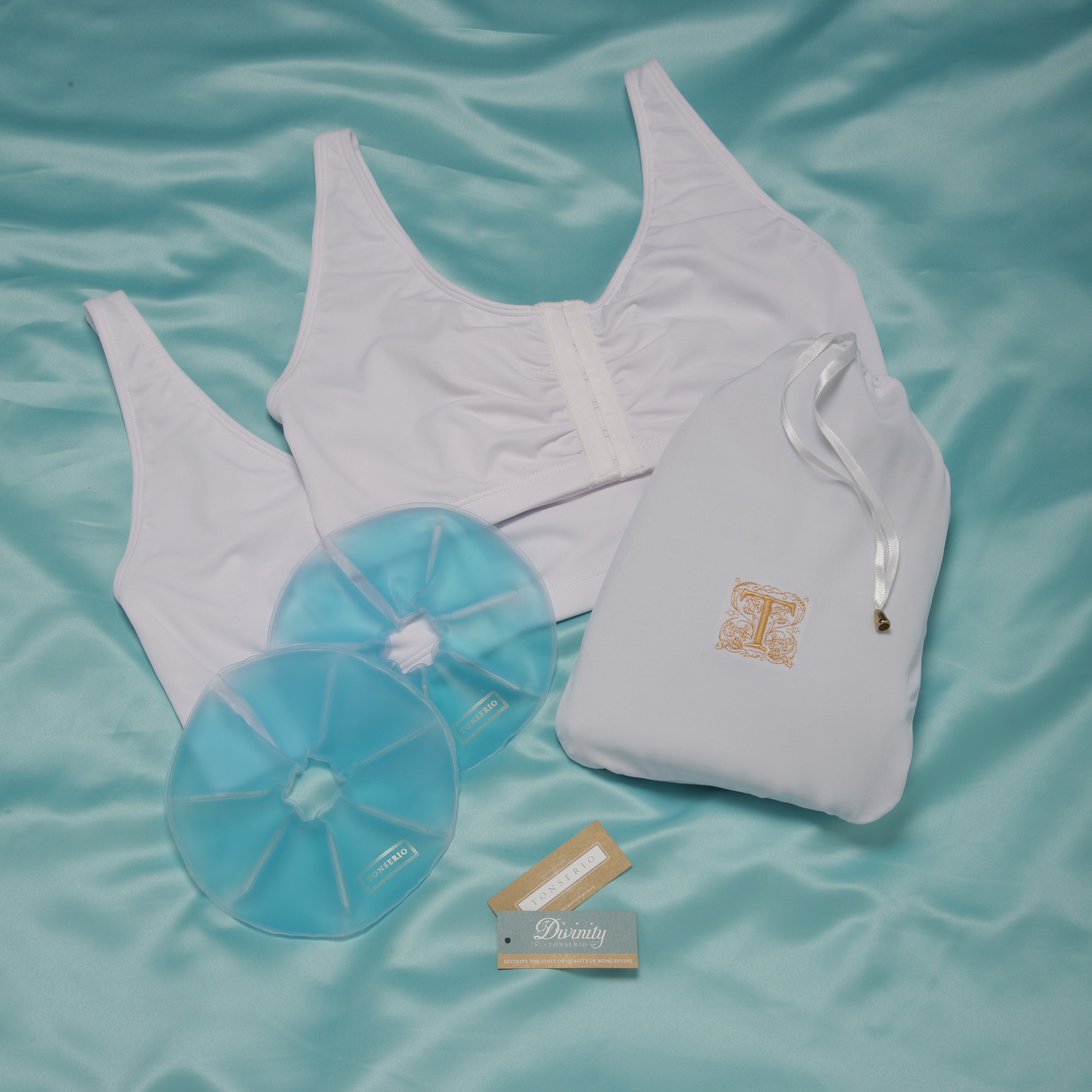 Tonserio Breast Surgery Care Kit (w/2 bras & compress)