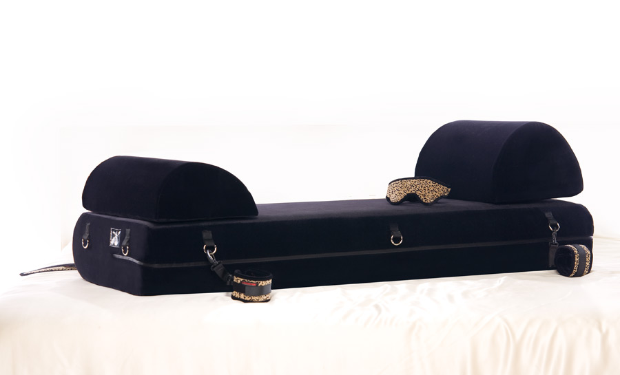 Liberator Black Label Stage System Sex Enhancing Mattress/Stage Platform w/ wrist, ankle cuffs, blindfold, and tethers