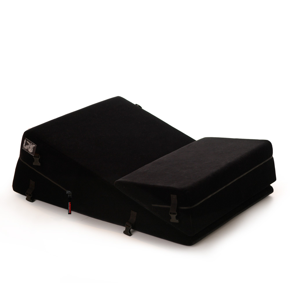 Liberator Black Label Wedge/Ramp Combo Sex Pillow (Short) w/ wrist, ankle cuffs, blindfold, and tethers