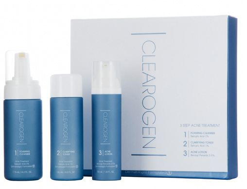 Clearogen Acne Treatment Set (3 Step) - Benzoyl Peroxide