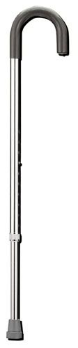 Aluminum Cane Silver Standard Handle Adjustable