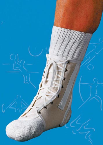 Ankle Splint Lace-Up Canvas Large Sportaid