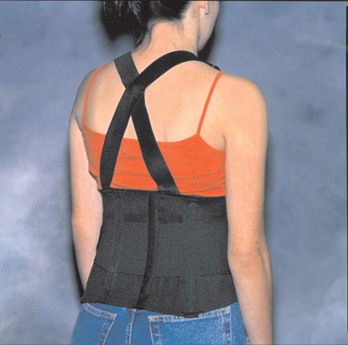 Back Support Industrial W/ Suspenders X-Lrg 45-49