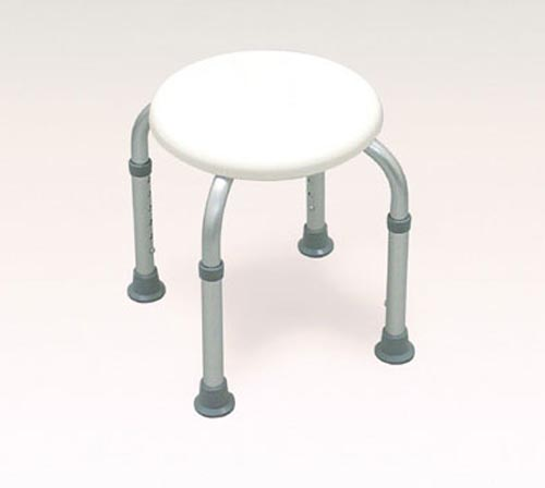 Bath Stool  - Round  White