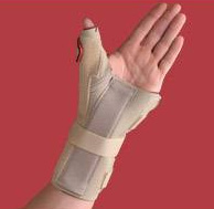Carpal Tunnel Brace w/Thumb Spica  Left  Beige  Small