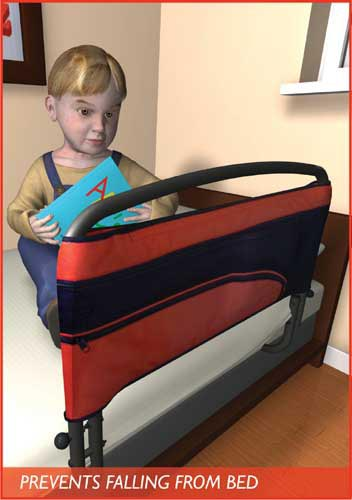 Children's Safety Bed Rail & Padded Pouch