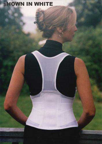 Cincher Female Back Support Large White