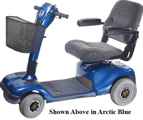 Companion II Electric Scooter 4-Wheel  Artic Blue
