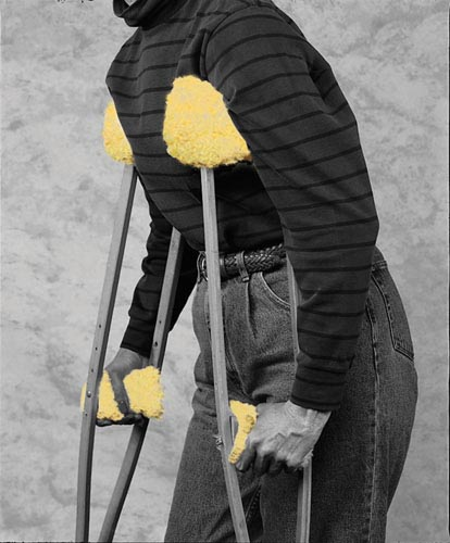 Crutch Fleece Covers Set