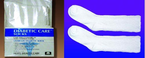 Diabetic Socks- Extra Large (10-13) (pair) White