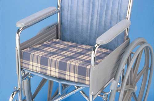 Foam Wedge Wheelchair Cushion Plaid  16  x 18  x 4  to 1