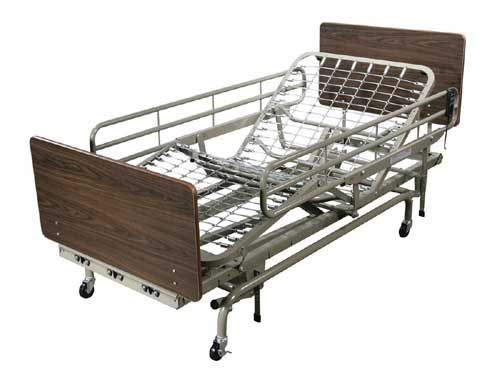 Fold Down Full Length Bedrails for Full Electric LTC Bed