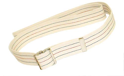 Gait Belt w/Metal Buckle 2x54  Striped