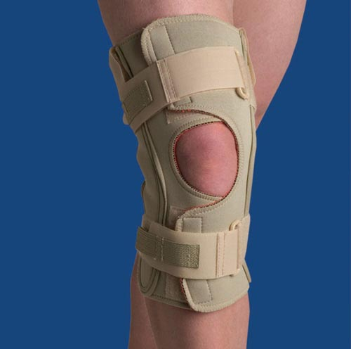 Hinged Knee Wrap Dual Pivot Beige Small