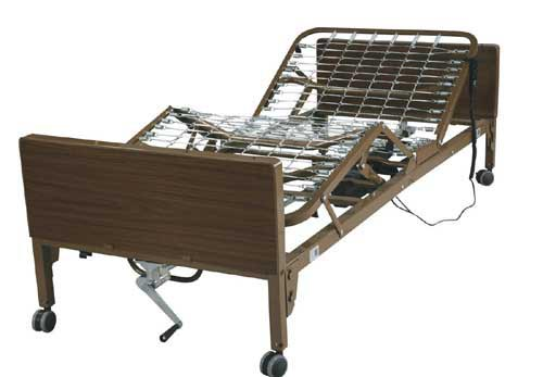 Homecare Full Electric Bed Pkg With Half Rails
