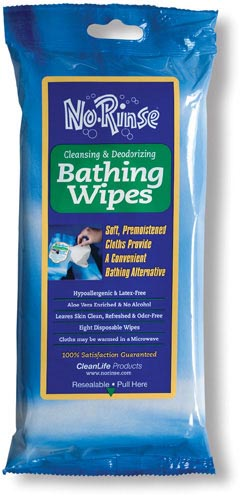 No Rinse Bathing Wipes Retail Package