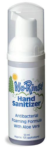 No Rinse Foaming Hand Sanitizer  Alcohol Free