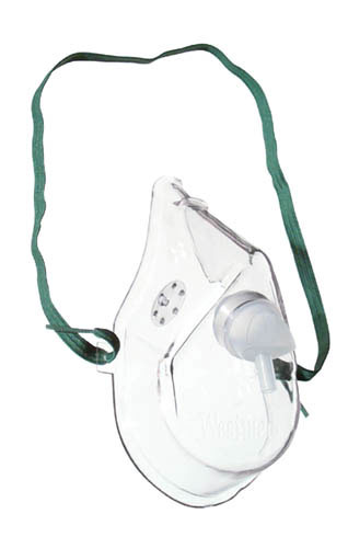 Oxygen Mask Adult w/7' Tubing Medium Concentration (Each)