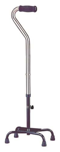 Quad Cane Heavy Duty Large Base 500# Capacity