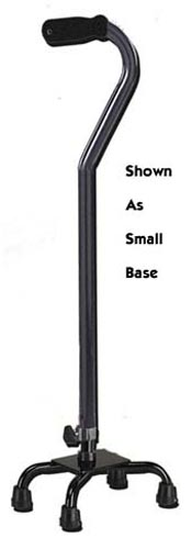 Quad Cane-Large Base Black